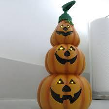 lighted pumpkins for halloween lighted pumpkin soap dispenser the green head