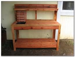 Outdoor Potting Bench With Sink Outdoor Potting Table With Sink Sinks And Faucets Home Design
