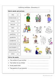34 free esl family vocabulary worksheets