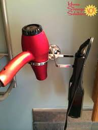 Hair Dryer And Flat Iron Holder Wall Mount wall mounted hair dryer holder more wall mounted hair dryer curling