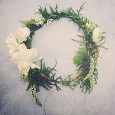 crowning floral spray diy flower crown class with hogue co santa barbara