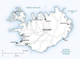 iceland map free vector map of iceland outline one stop map