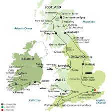 Map Of England And Ireland by England Ireland Scotland U0026 Wales Budget Tours Cosmos Tours
