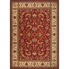 home dynamix royalty red ivory 7 ft 8 in x 10 ft 4 in indoor