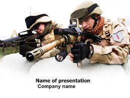 soldiers in iraq powerpoint template backgrounds 07321