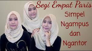 tutorial memakai jilbab paris yang simple 6 tutorial hijab cara pakai jilbab segi empat paris yang simpel