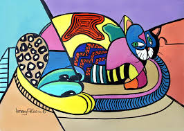 picasso paintings named picasso painting by anthony falbo a cat named picasso fine art