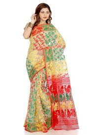 dhakai jamdani b3fashion women s dhakai jamdani saree ags576 beige in