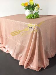 90 x 156 table shinybeauty sequin tablecloth rectangle baby pink 90x156 table linen