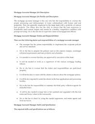 Job Description Examples For Resume by Account Manager Responsibilities Resume Free Resume Example And