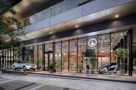 toyota fuses a showroom with a cafe for new car sharing concept in toyota fuses a showroom with a cafe for new car sharing concept in tokyo the drum