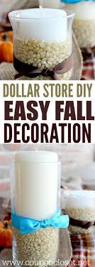 dollar store diy thanksgiving decoration idea fall centerpiece