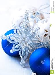 silver and blue christmas decoration stock photos image 22102703