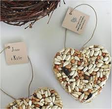 bird seed wedding favors 100 personalized bird seed wedding favor hearts by nature favors