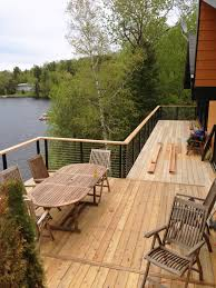 Patio Furniture Montreal by Lake House In Montreal Canada Elevated Deck Update With Cable