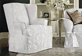 2 Piece Wing Chair Slipcover Wing Back Chair Slip Cover Drew Home
