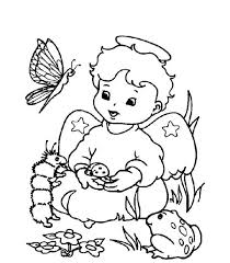 cute christmas angel animals coloring pages angel
