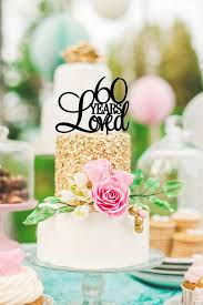 60 years loved cake topper birthday cake topper or 60th