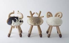 3 small kids chairs with animal theme home design and interior