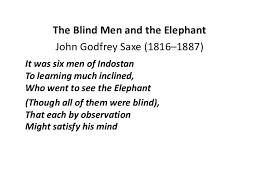 3 Blind Men And The Elephant The Blind Men And The Elephant