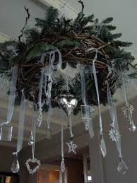Ceiling Decoration For Christmas by 45 Christmas Decorating Ideas For Pendant Lights And Chandeliers
