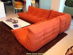 ligne roset canapé togo stupéfiant canapé togo ligne roset alcantara orange artsvette