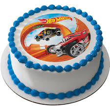 hot wheels cake toppers hot wheels 7 5 edible cake topper cooking kits