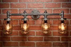 Bar Light Fixture Industrial Lighting Lighting Jar Light Steunk