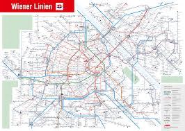 World Map Austria by Vienna Lines Public Transport Network Map Vienna Wien Austria