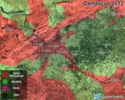 Damascus Syria Map Comparison Damascus 2013 Vs Damascus 2016