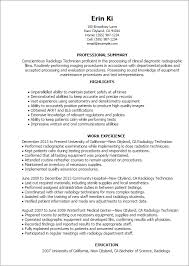 Summary Resume Sample by Professional Radiology Technician Templates To Showcase Your