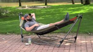 guide gear portable folding hammock youtube
