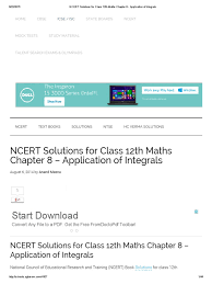 ncert solutions for class 12th maths chapter 8 application of