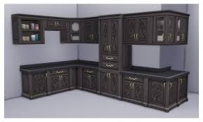 how to make a corner kitchen cabinet sims 4 mod the sims iron cabinet to match realm of magic iron counter