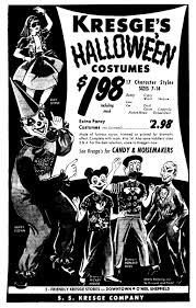 vintage halloween skeleton brady u0027s lorain county nostalgia kresge u0027s halloween ad u2013 october