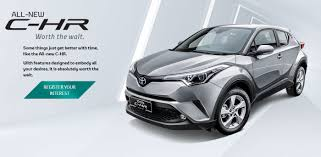 toyota corporate toyota c hr appears on toyota malaysia website 1 8l cvt 4wd a
