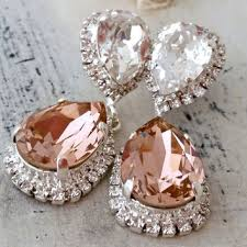 chandelier wedding earrings best blush pink bridal jewelry products on wanelo