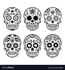 dia de los muertos pictures mexican sugar skull dia de los muertos icons set vector image