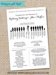 wedding program layouts silhouette wedding program sle pdf instant by