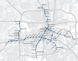 Houston Tunnel Map Light Rail Houston Map Indiana Map