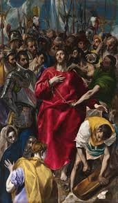 el greco 1541 1614 the disrobing of christ el espolio 1577 1579 is one of the most famous altarpieces of el greco which are renowned for their