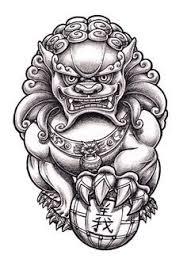 small foo dogs foo dog jq johnq foodog shishi japanesetattooart sketch