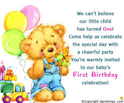 birthday invitation wording 1st birthday invitation message