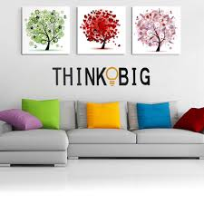 online get cheap big wall stickers quotes aliexpress com letter think big quote wall stickers removable vinyl home bedroom background wall decor stickers for kids