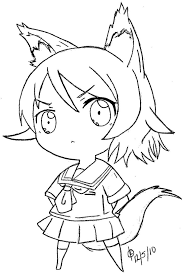 16 images of anime wolf chibi coloring pages cute anime