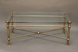20thc glass and brass coffee table antiques atlas