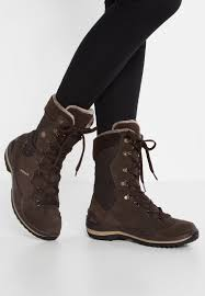 women boots lowa barina gtx winter boots dunkelbraun beige