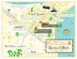 New Orleans City Map by As Seen On Style Me Pretty New Orleans Wedding Map Save The