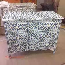 Bone Inlay Chair Handmade Bone Inlay Cabinet Furniture Bone Inlaid Bar Cabinet