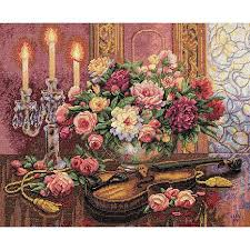 dimensions gold counted cross stitch kit floral